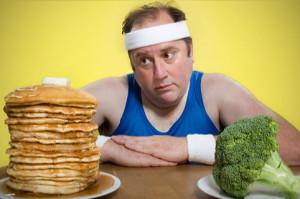 на фото вредная и полезная еда для мужчин