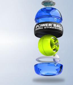 на картинке изображен тренажер кистевой powerball