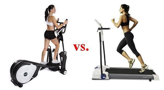 картинка о том, что лучше беговая дорожка или эллиптический тренажер