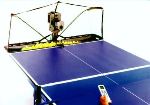 "на фото тренажер для настольного тенниса ""робот"""