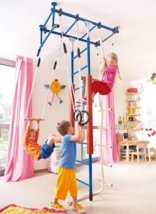 на картинке представлены виды детских тренажеров для дома