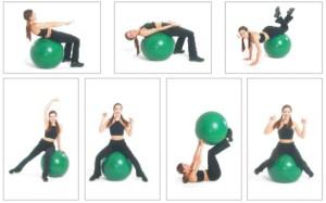 иллллюстрация упражнений с фитболом