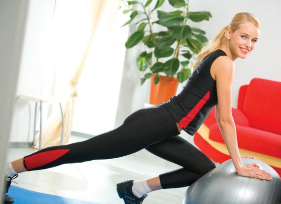 на картинке спортивные тренажеры для женщин