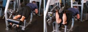 как правильно выполнять упражнение сгибание ног лежа на тренажере