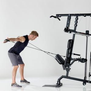 силовой тренажер со встроенными весами