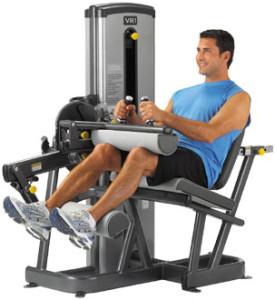техника выполнения упражнения сгибание ног в тренажере сидя