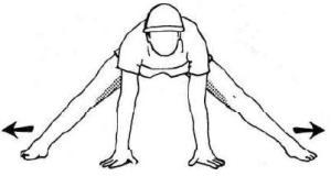 Упражнение для поперечного шпагата