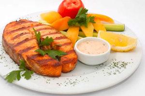 Блюдо рыбного дня лепестковой диеты