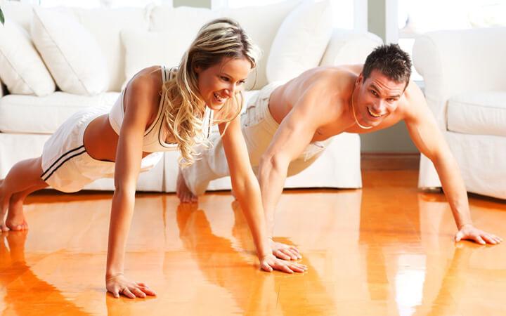 Занятия фитнесом в домашних условиях